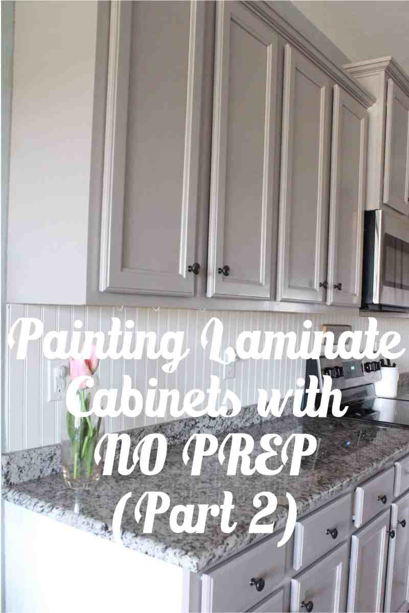 Painting Laminate Cabinets with NO Prep Work (Part 2)